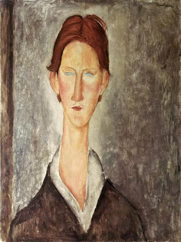 Portrait of a Student, c.1918-19 Lámina giclée
