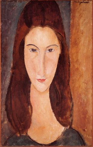 Portrait of Jeanne Hebuterne Art Print