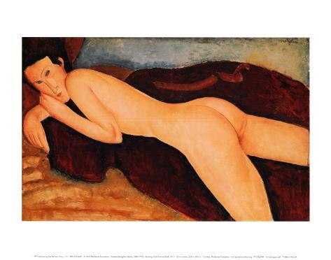 Reclining Nude from the Back, 1917 Art Print