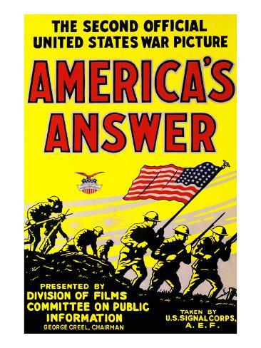 America's Answer. the Second Official United States War Picture Art Print