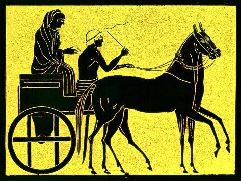 A Greek Chariot, Illustration from 'History of Greece' by Victor Duruy, Published 1890 Giclee Print