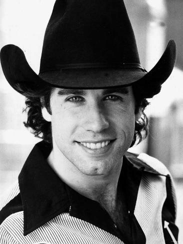 American Actor John Travolta on Set of Film Urban Cowboy, September 1980 Lámina fotográfica