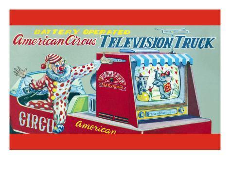 American Circus Television Truck Art Print