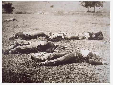 Dead on the Field of Gettysburg, July 1863 Giclee Print