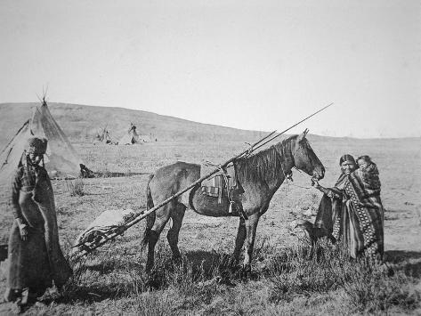 Native American Cree People of Western Canada, C.1890 Giclee Print