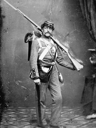 New York State Militiaman with Percussion Rifle-Musket Giclee Print