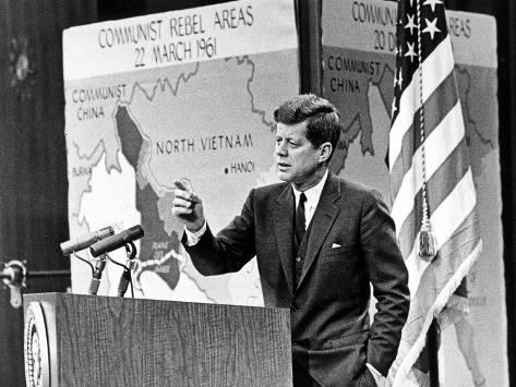 American President John Kennedy Has Held Press Conferences About International Issues Photo