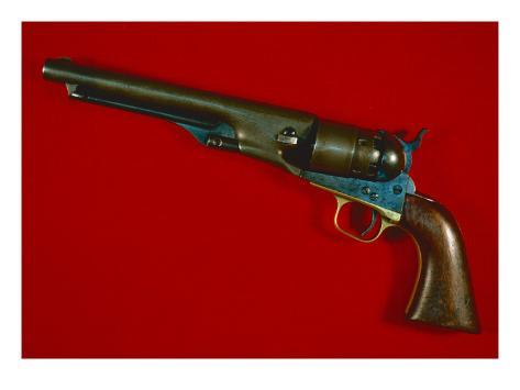Colt's New Army Model .44 Calibre Six-Shot Percussion Revolver, 1860 Giclee Print