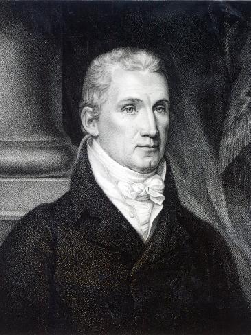James Monroe, Engraved by Thomas Gimbrede Lámina giclée