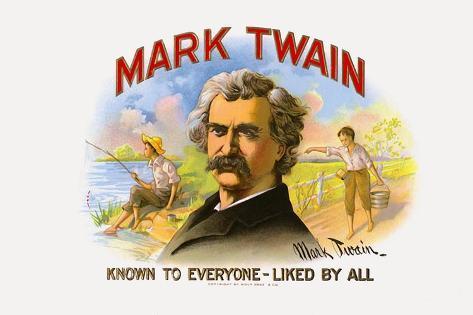 Mark Twain, Printed by Wolf Bros. and Co., C.1920S Impressão giclée