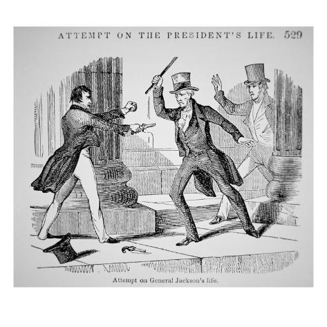 The Attempted Assassination of General Andrew Jackson Giclee Print