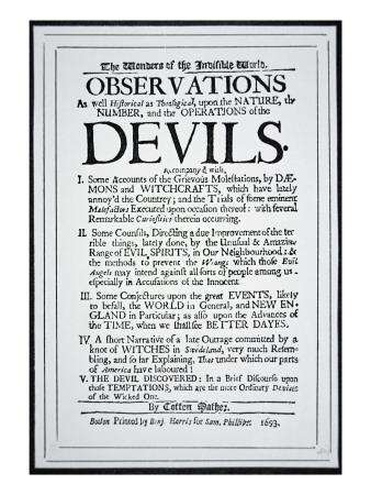 Title Page Of A Witch Hunt Pamphlet By Cotton Mather