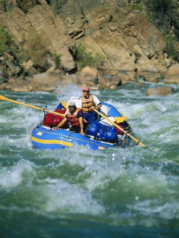 People White-Water Rafting on Colorado River Photographic Print