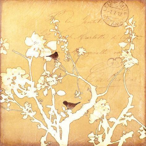 Song Birds VI - Yellow Premium Giclee Print