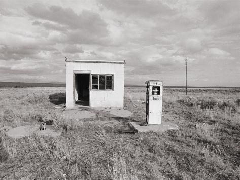An Abandoned Gas Station Photographic Print