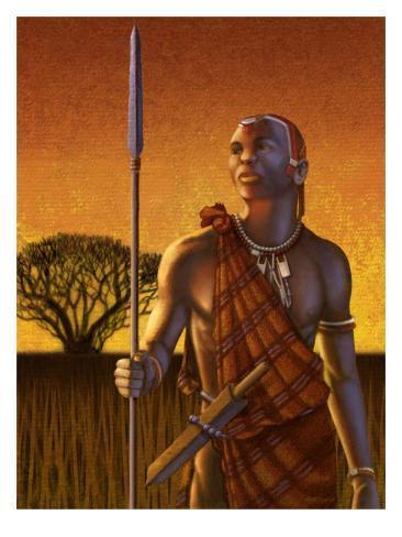 An African Warrior Stampa giclée