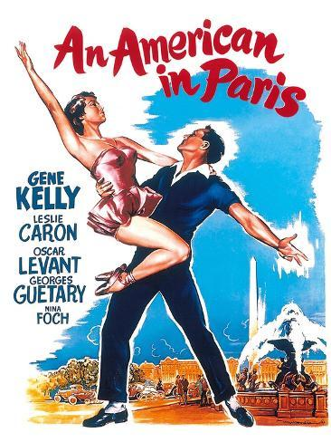 An American In Paris, 1951, Directed by Vincente Minnelli Impressão giclée
