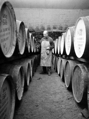 An Employee of the Knockando Whisky Distillery in Scotland, January 1972 Photographic Print