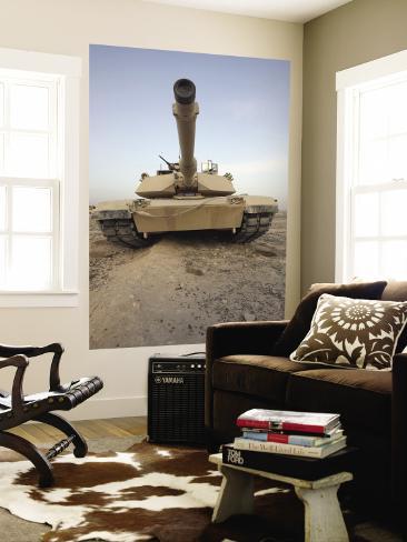 An M-1A1 Main Battle Tank Casts a Daunting Image in the Desert Near Dra Digla, Iraq Wall Mural