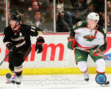Anaheim Ducks, Minnesota Wild - Saku Koivu, Mikko Koivu Photo Photo