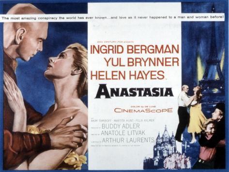 Anastasia, Yul Brynner, Ingrid Bergman, 1956 Photo