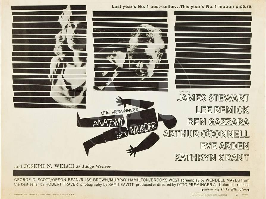 Anatomy Of A Murder Lee Remick Ben Gazzara James Stewart 1959
