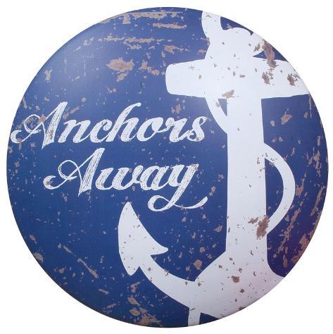 Anchors Away Tin Sign