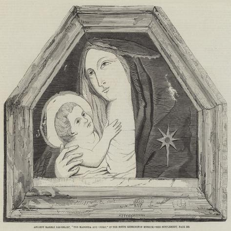 Ancient Marble Bas-Relief, The Madonna and Child, in the South Kensington Museum Lámina giclée