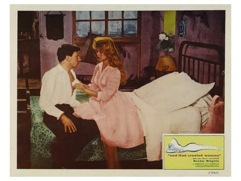 And God Created Woman, 1957 Stretched Canvas Print