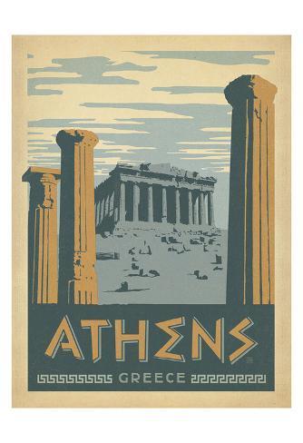 Athens, Greece Art Print