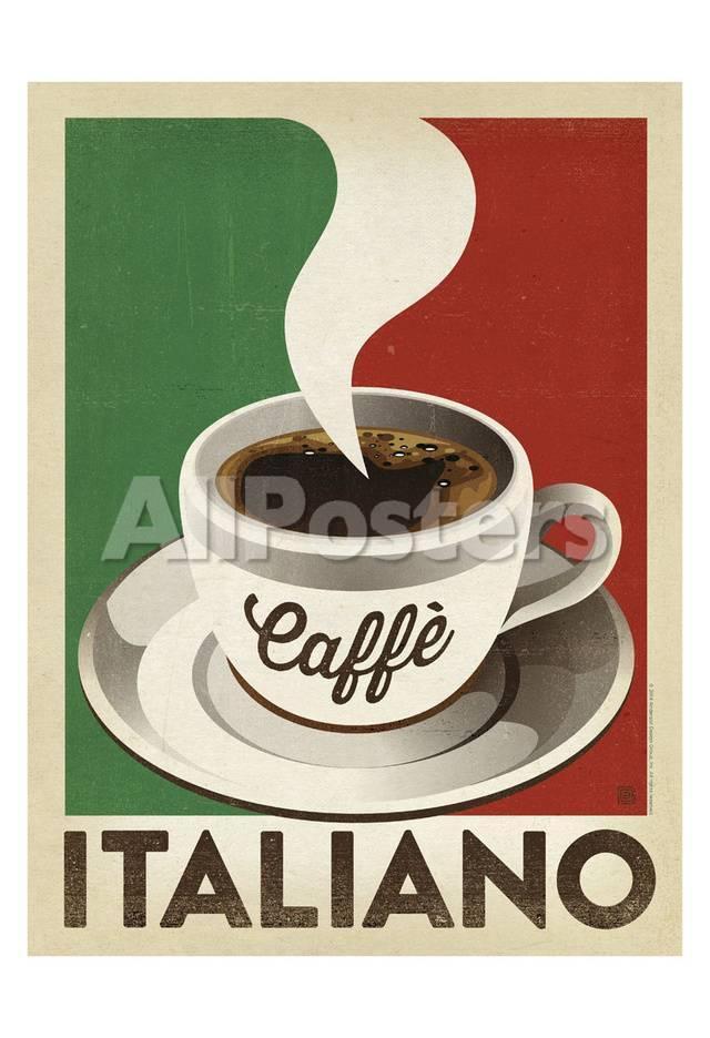 Cafe Italiano Pósters por Anderson Design Group en AllPosters.es