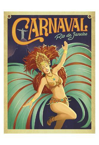 Carnaval Rio de Janeiro Art Print