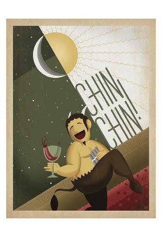 Chin Chin! Art Print