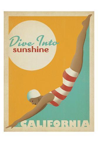 Dive Into Sunshine: California Art Print