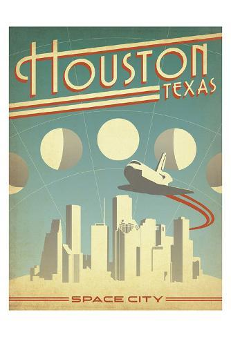 Houston, Texas: Space City Art Print