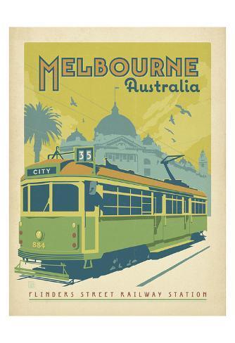 Melbourne, Australia Art Print
