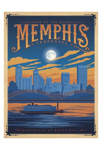 Memphis, Tennessee: Home Of The Blues Art Print