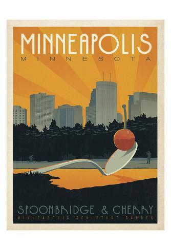 Minneapolis, Minnesota: Spoonbridge & Cherry Art Print