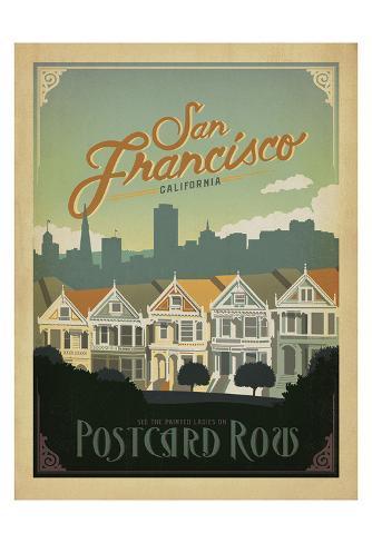 San Francisco, California: Postcard Row Art Print