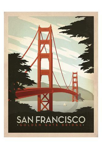 San Francisco Golden Gate Bridge Posters By Anderson