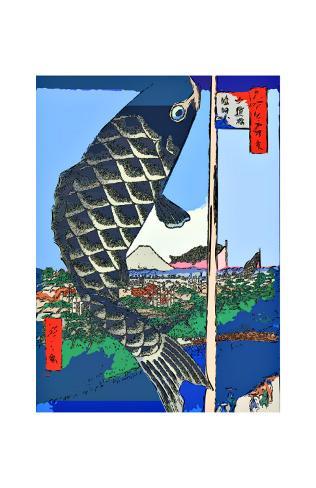 Carp Streamers at Suidobashi-Surugadai Giclee Print
