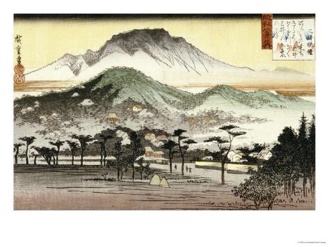 Evening Bell at Mii Temple Giclee Print