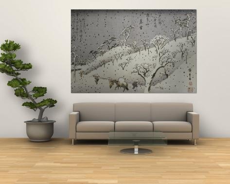Evening Snow at Asuka Hill Wall Mural