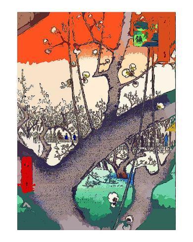 Plum Garden at Kameido Giclee Print