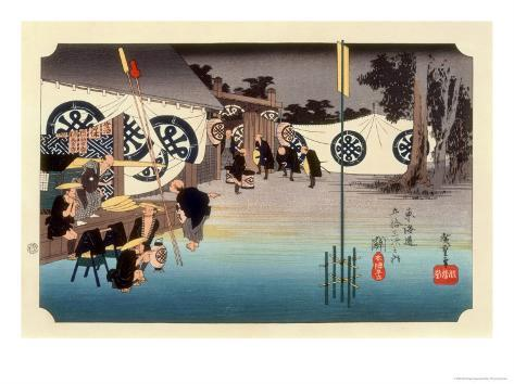 The 53 Stations of the Tokaido, Station 47: Seki-juku, Mie Prefecture Giclee Print