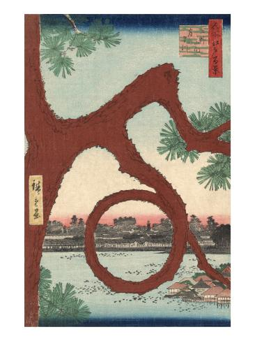 The Moon Pine on the Temple Precincts at Ueno Art Print