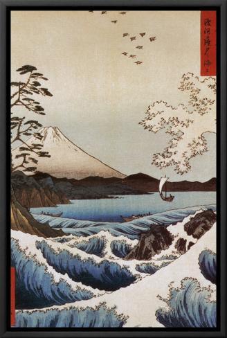 View from Satta Suruga Impressão em tela emoldurada