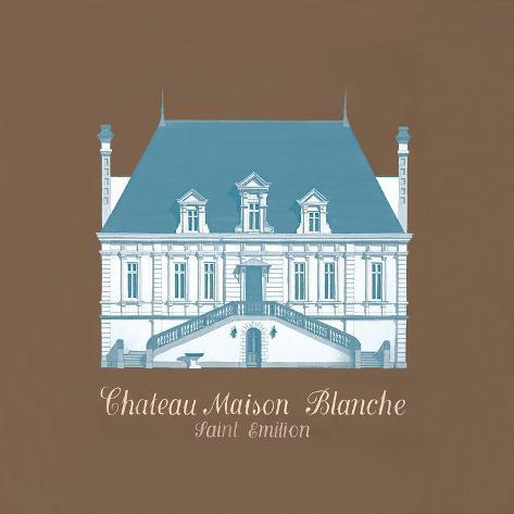 Vintage Chateau I Giclee Print