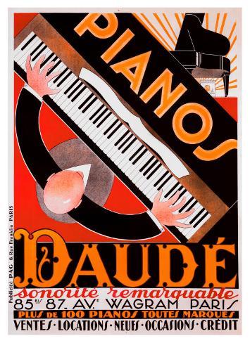 Pianos Daude Giclee Print