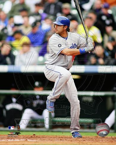 Andre Ethier 2011 Action Photo